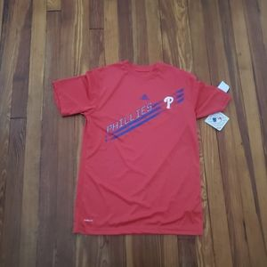 Philadelphia Phillies Adidas Red Youth Large T Shi